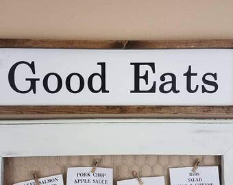 Farmhouse Decor - Good Eats - Farmhouse Signs - Farmhouse Kitchen Decor - Kitchen Decor - Kitchen Signs - Home Decor - Cottage Wood Signs