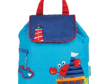 NAUTICAL Stephen Joseph  Quilted Backpack  ~ free personalization ~ Lake Martin Monograms