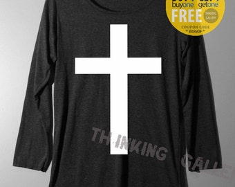 Cross Shirt Long Sleeve TShirt T Shirt Tee Top