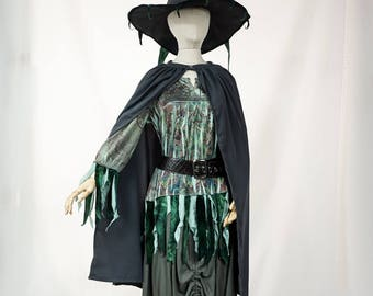 Green and Gray Witch
