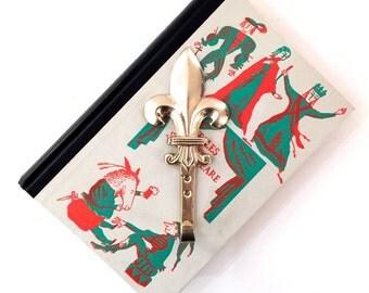 Vintage Brass Fleur de Lis Hook - Brass Fleur-de-Lis Hook - French Kitchen Decor - French Hardware - Shabby Chic Kitchen - Potholder Hook