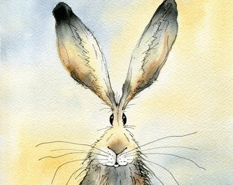 Limited edition print - Paddy the Hare, hare print, hare picture