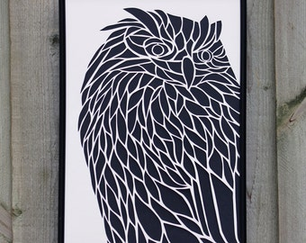 Owl Paper Cut (Other Colours Available)