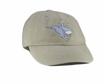 Dolphins embroidered hat, baseball cap, cap, dad hat, mom cap, wildlife cap, porpoise, whale cap