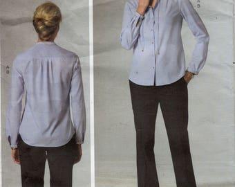Vogue V1436 Anne Klein Top & Pants Pattern, Sizes 8, 10, 12, 14, 16