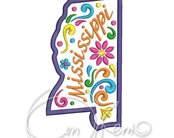 MACHINE EMBROIDERY DESIGN - Mississippi state embroidery, Mexican design, Calavera embroidery, Dia de los muertos, Day of the dead