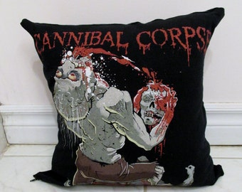 Cannibal Corpse Pillow DIY Death Metal Decor #2 (Cover or Full Pillow)