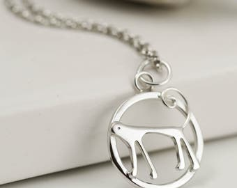 Year of the Monkey Necklace - Sterling Silver Monkey Necklace - Chinese Zodiac - Zodiac Sign Jewellery - Monkey Gifts