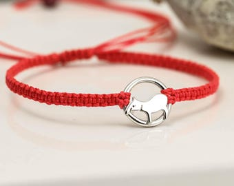 Sterling Silver Tapir Bracelet - Friendship Bracelet - Tapir Gifts