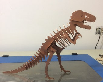 T-Rex Dinosaur made of MDF wood
