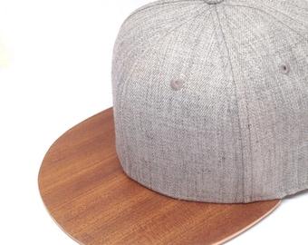 Wooden Cap Snapback Grey Sapelli