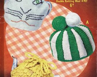 Tea Cosy Cosies - Sirdar 1424 - Vintage Retro Knitting Pattern