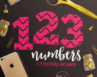 Chevron Numbers svg, Birthday svg, Birthday Number svg, svg Chevron Number, Number svg, eps, dxf, png Cut Files for Silhouette for Cricut