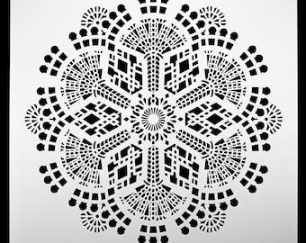 Ski Lodge Fireworks Explosion.  Wall / Art / Craft / Painting / Makeup / Furniture / Tattoo / Overlay Airbrush Stencil.