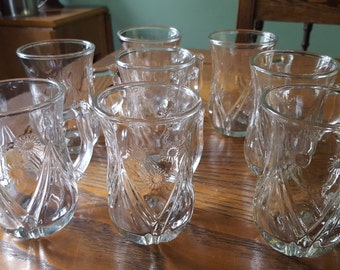 Juice glasses, punch glasses, set of eight