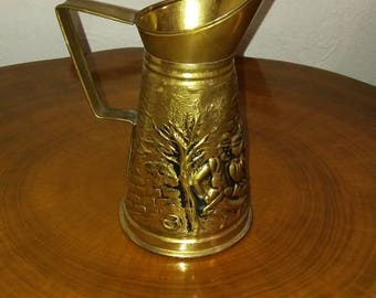 Vintage Brass Pitcher by Peerage England