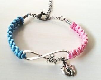 Pink/Blue Infertility Awareness HOPE Charm Bracelet