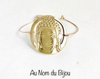Bronze gold Buddha bracelet