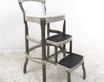 Vintage Industrial Folding Kitchen Step Stool by Cosco (5334)JR
