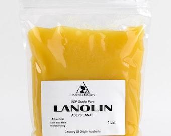 1 Lb LANOLIN ANHYDROUS USP Grade Ultra Refined 100% Pure Skin Hair Moisturizing