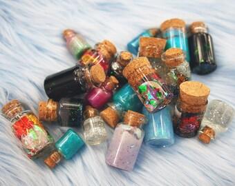 Bottle Necklace Mystery Box, Pastel Goth Clothing Mystery Bag, Bottle Choker, Bottle Charm Necklace, Glitter Resin Fairy Kei Kawaii Jewelry