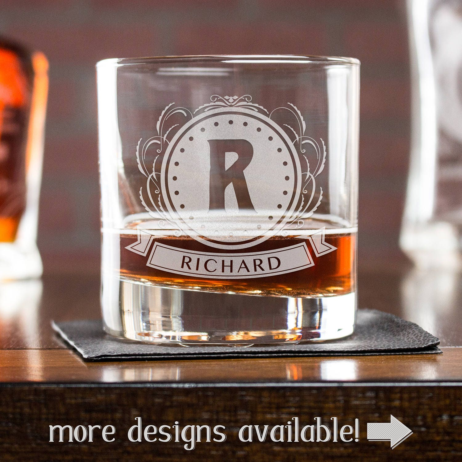 Whiskey Glass Personalized Glass Gift For Boss Etched