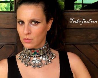 Tribal bellydance, kuchi choker, amazing tribal choker
