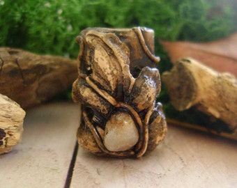 dreadlock rose quartz gemstone, dread accessories,dreadlock beads,dreadlock accessory,dreads cuff
