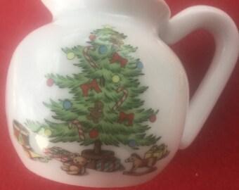 Home For The Holidays Porcelain Christmas tree creamer