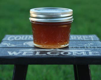 0.5 lb- Pure, All Natural (unprocessed/unpasteurized) Raw Alfalfa Honey In Mason Jars