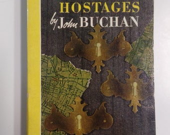 The Three Hostages by John Buchan Bantam Books #31 1946 Vintage Mystery Paperback