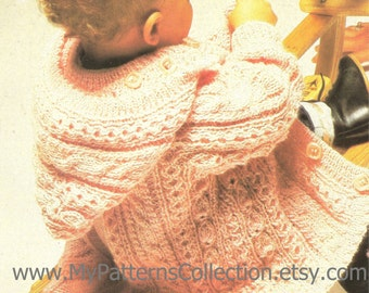 "Knitting pattern - Baby ""Jacket"" - Instant download"