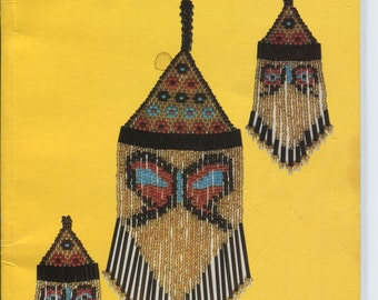 Techniques of beading earrings, seed beads, bugle beads