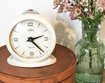 Vintage Soviet Cebaru CCCP Alarm Clock, Bakelite, USSR, Industrial, Mechanical Wind Up Clock, Mantel, 1950's Office Retro Decor, Desk