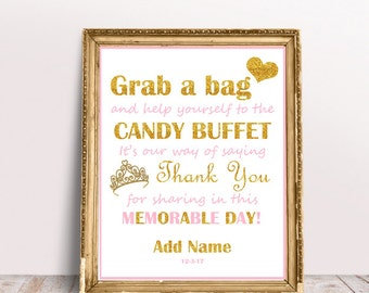 Candy Buffet Sign 8x10 - You Print