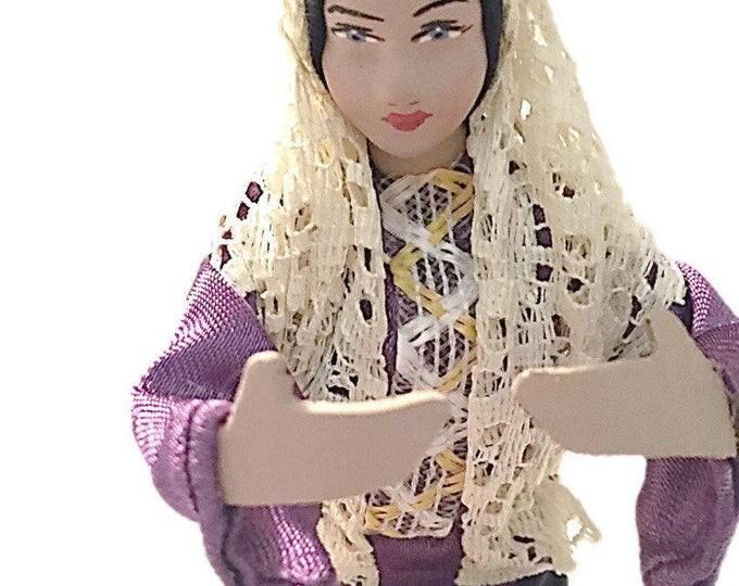 Vintage ISRAEL Religious Doll | Collectors Figurine Handmade by Sabra | Israel | Vintage Folk Art Dolls
