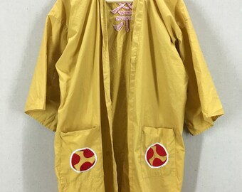 Vintage Embroidered Japanese Cotton Robe