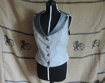 Woman jacket, silver grey, tailcoat, butler