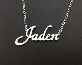 Any Name Necklace Sterling Silver Personalized Jewelry Handmade Costomized Necklace