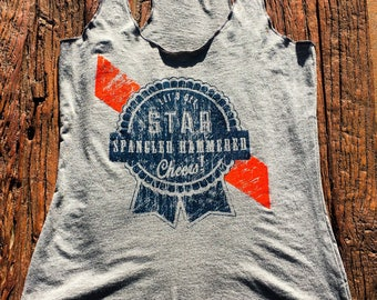 "Star Spangled Hammered ""Cheers!"" - Women Tank"
