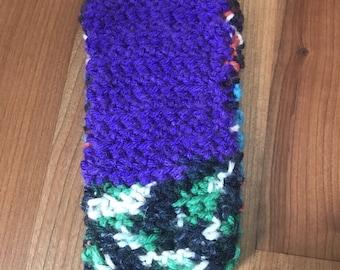 Orange, Blue, Purple & White (Block Color) Insulated sleeve