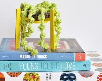 string of pearls | crochet succulent | house plant | amigurumi plant | artificial succulent | nightstand decor | bedroom decor | plant lover