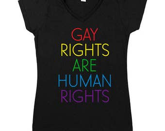 Gay Rights Are Human Rights -- Women's V-Neck