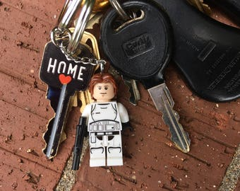Star Wars - Han Solo in Storm Trooper Uniform Mini-Figure Key Chain With Custom Gift Box