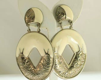 Large Bohemian Doorknocker EArrings