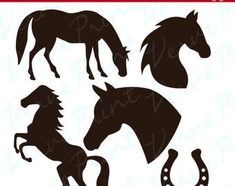 Horse svg silhouette pack Svg, Ai, Eps, Pdf Cutting file,horses vector clipart, silhouette cameo cricut clip art commercial use
