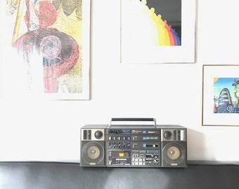"80s Yamaha Boombox / model PC-8 / Nippon Gakki Co., LTD / store display / 26.5"" !"