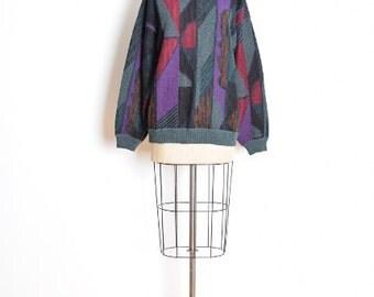 vintage 80s sweater, 80s jumper, boyfriend sweater, geometric sweater, 1980s 80s clothing, cosby sweater, ugly sweater, zack morris