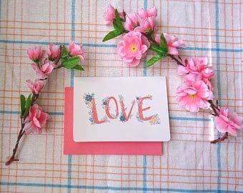 LOVE greeting card ( A6 size )