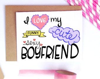 Boyfriend Card, Anniversary, Valentine's Day Gift